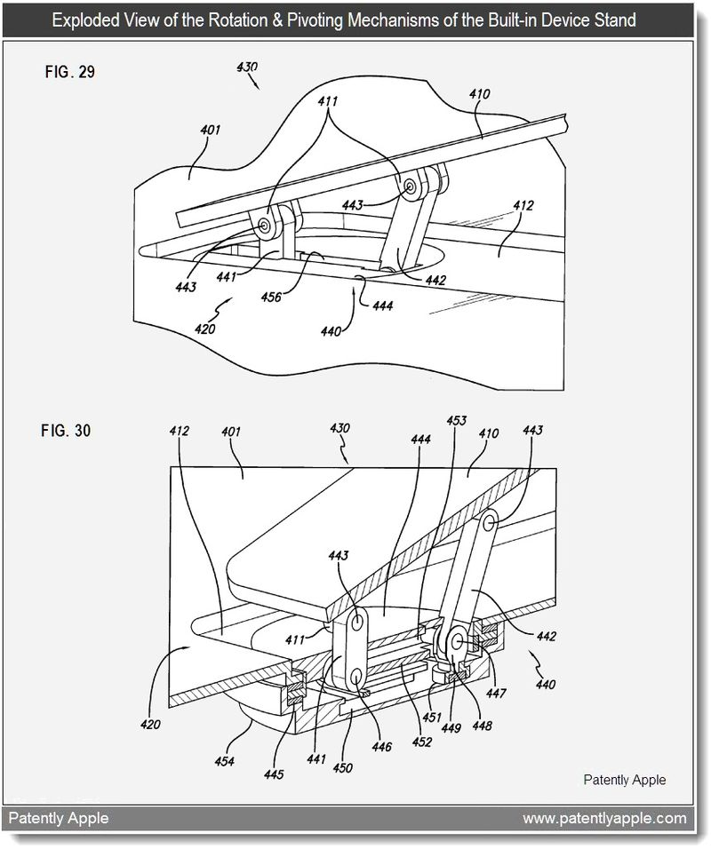 4 - Apple Patent - exploded views of the rotation and pivoting mechanisms - feb 2011