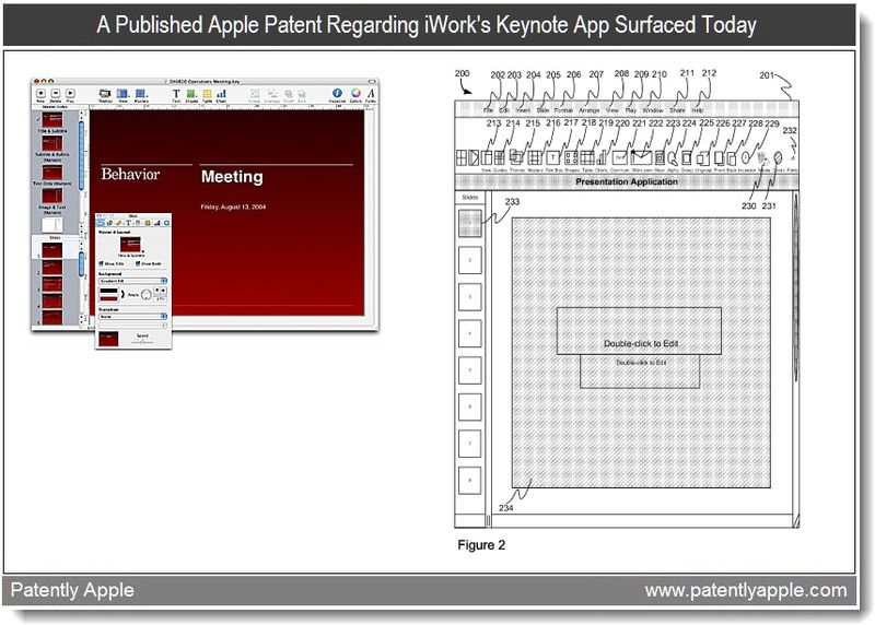 Extra Graphic - Feb 2011 - Apple patent surfaces re iWork's Keynote - Apple