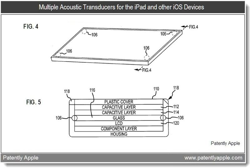 3 - apple patent - multiple acoustic transducers for the iPad and other iOS Devices -  feb 2011