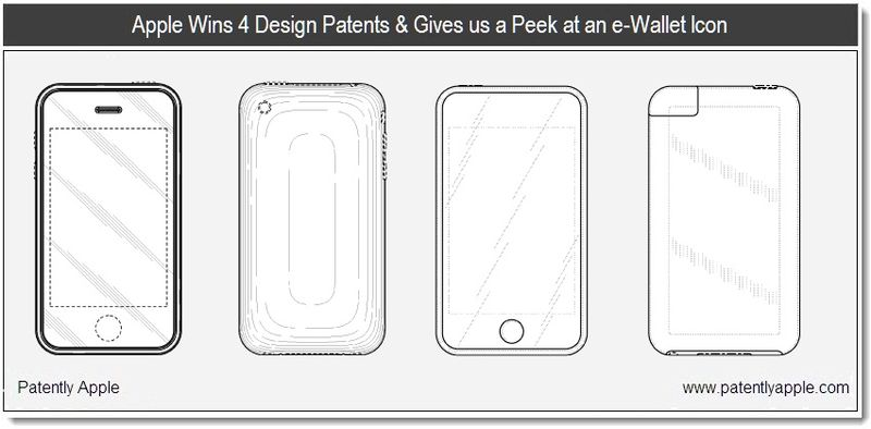 1 - apple wins 4 designs & gives us a peek at an e-Wallet icon - granted patent report feb 22, 2011