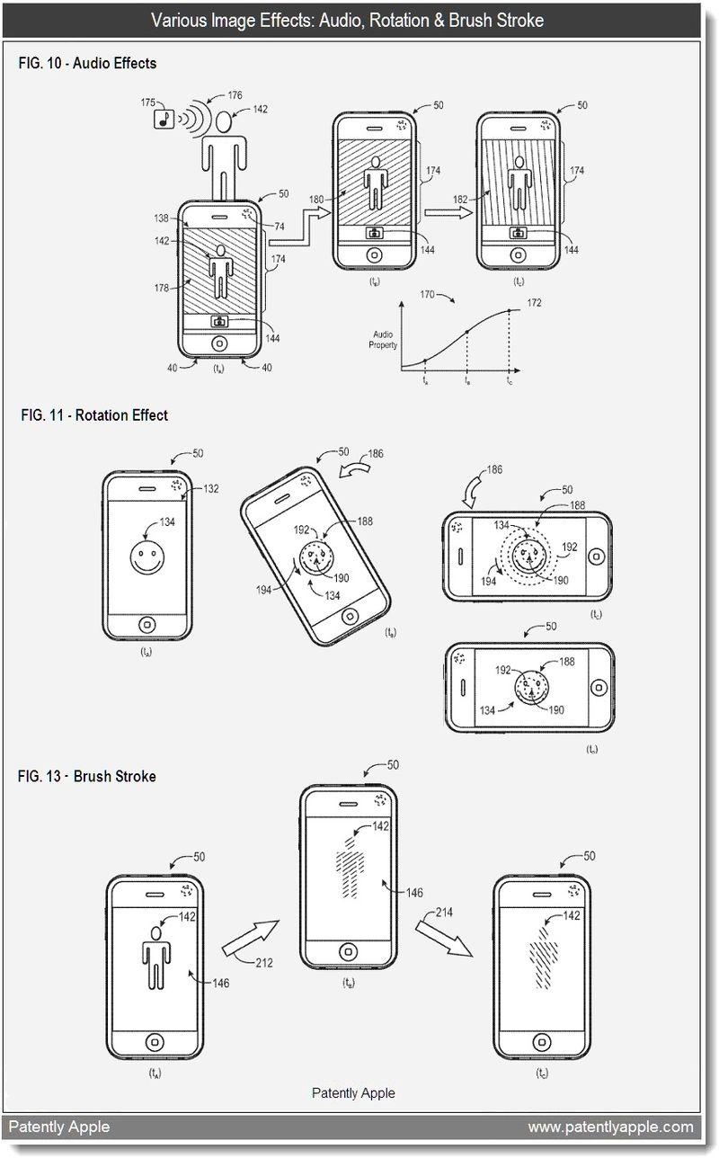 7 - Various Image Effects - Audio, Rotation & Brush Stroke - Apple patent feb 2011