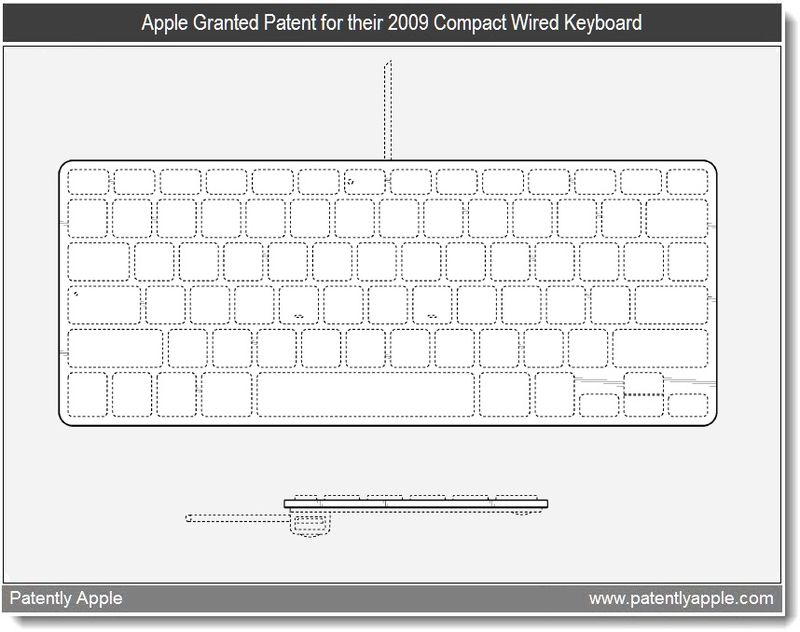 4 - Apple granted patent - 2009 compact wired keyboard - mar 2011