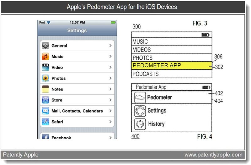 2 - Apple Patent - pedometer app - mar 2011