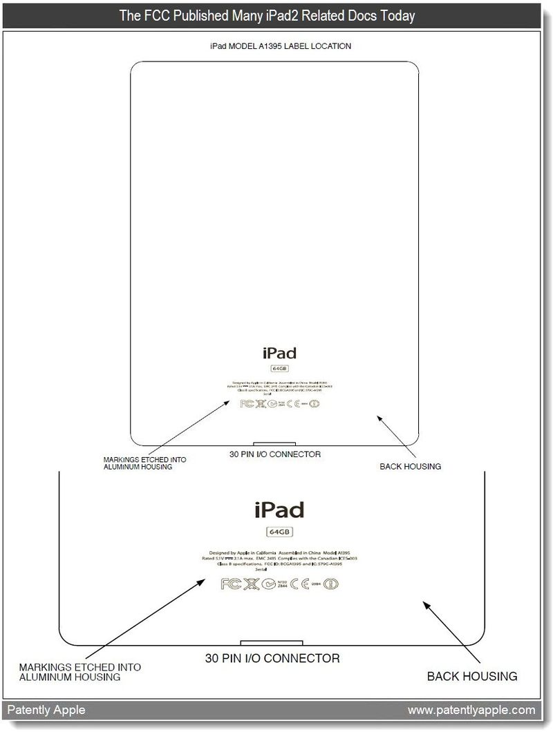 Extra 2 - FCC published many ipad2 related docs today - mar 2011 re Apple