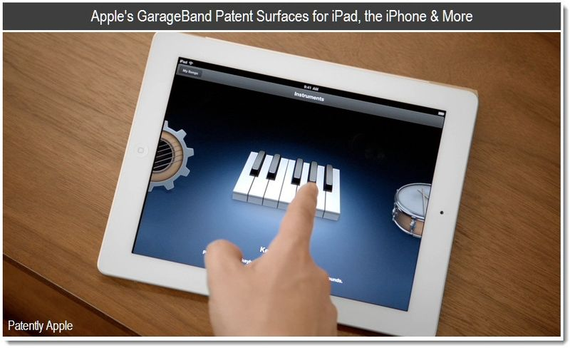 1 - Cover - Apple's GarageBand Patent Surfaces for the iPad, the iPhone & More - Mar 2011