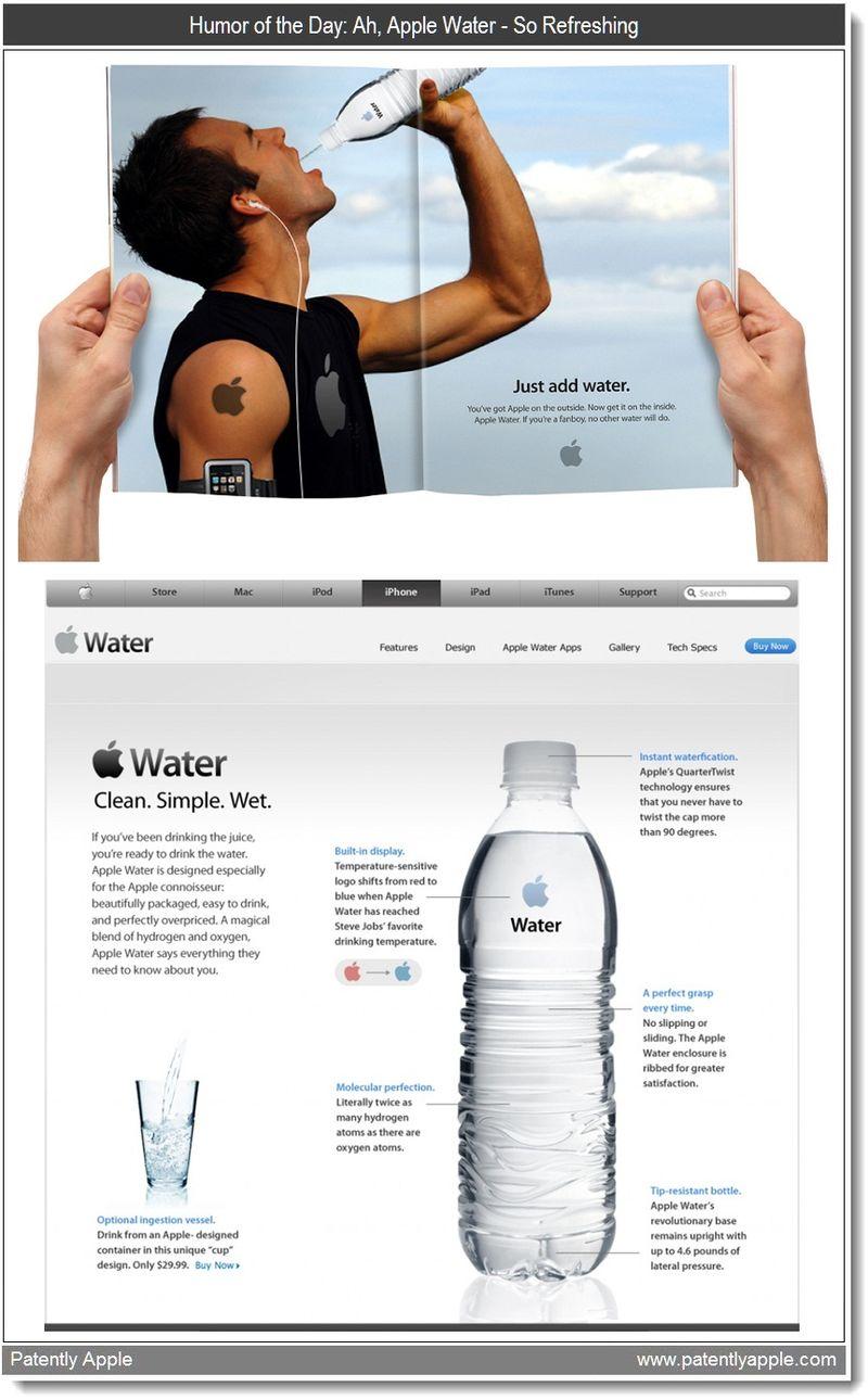 Xtra - Apple Water. Humor. Scoopertino  -  March 2011