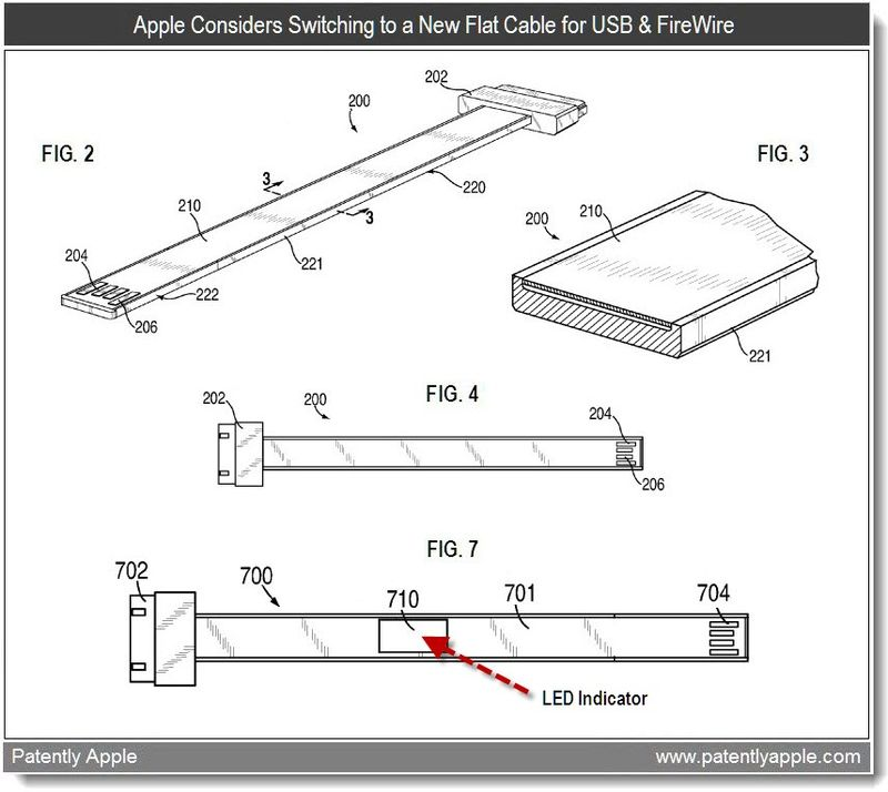 2 - Apple Considers Switching to a New Flat Cable for USB & Firewire - mar 2011 patent