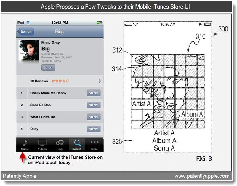 2c - Apple Proposes a Few Tweaks to their iTunes Store UI - mar patent 2011