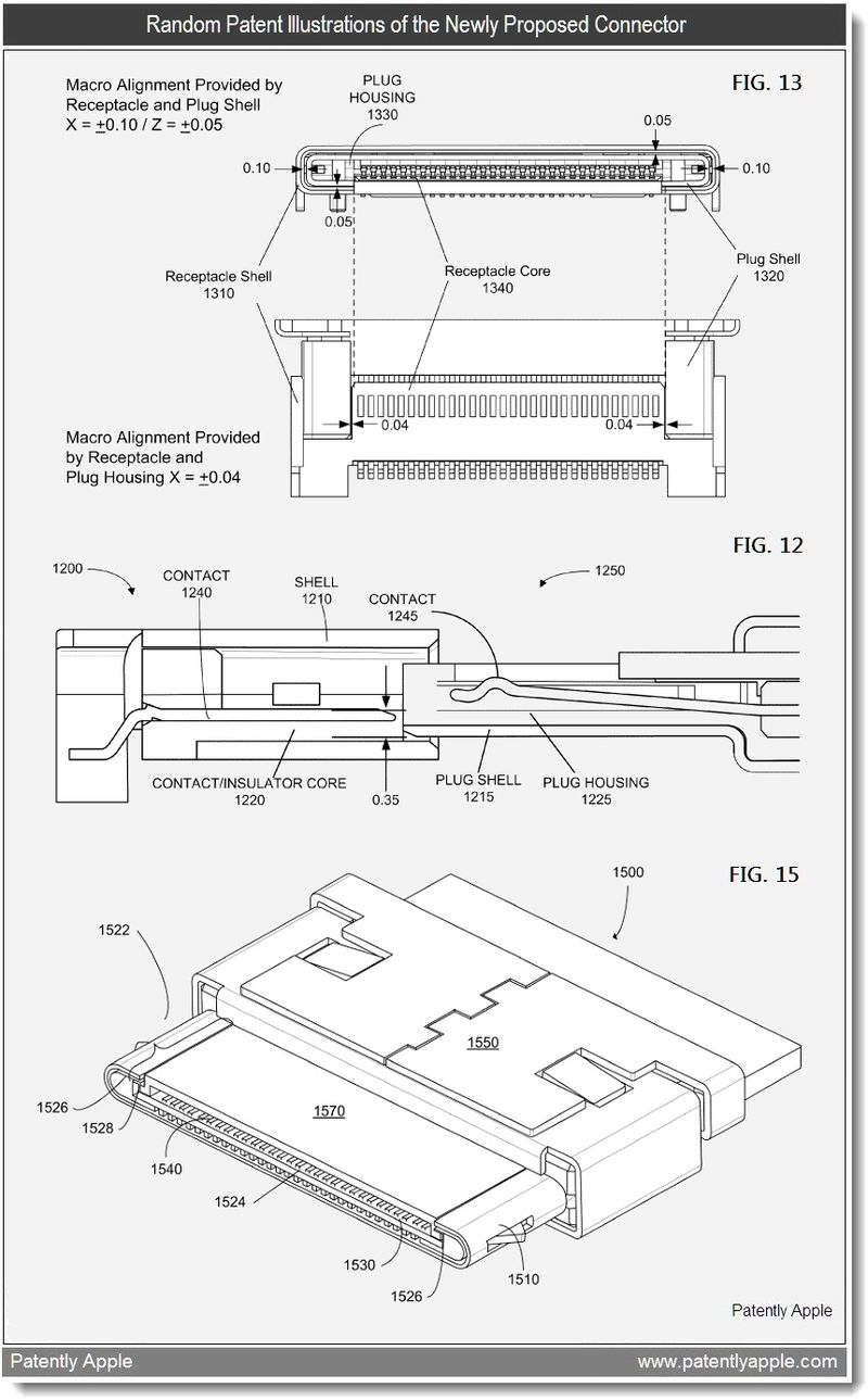 4 - Random Patent Illustrations of the Newly Proposed Connector - Apple patent apr 5, 2011