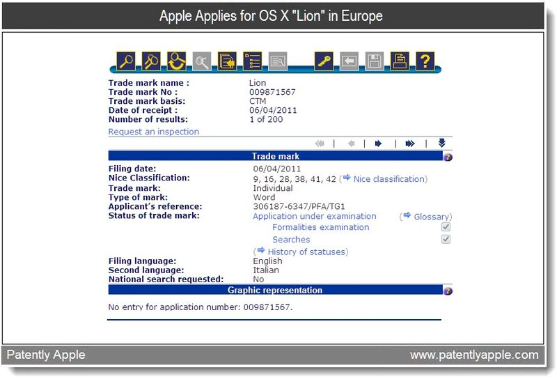 Apple Applies for OS X Lion in Europe - Apr 2011