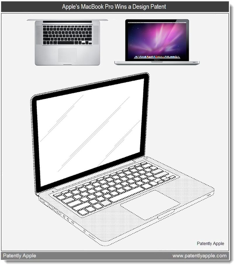 2 - Apple MacBook Pro wins design patent - feb 22, 2011