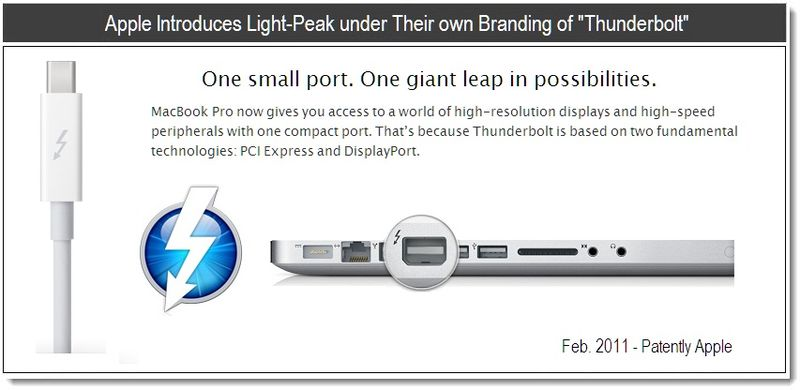 Extra Feb 24, 2011 - Apple introduces light peak under their own Branding of Thunderbolt