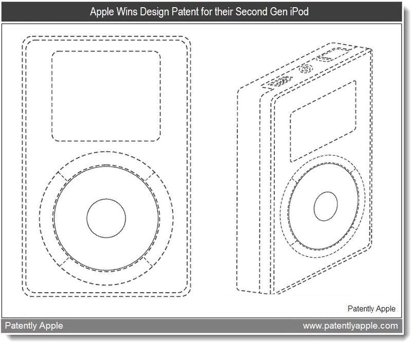 5 - Apple Granted Patent - 2nd gen iPod - mar 2011