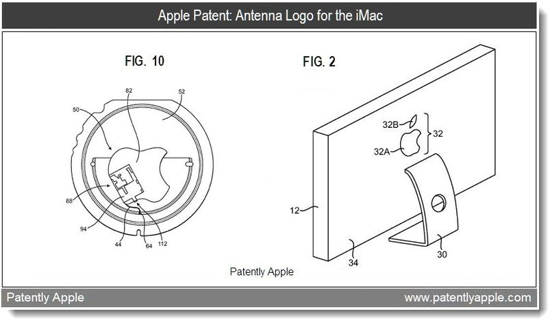 Xtra - Apple patent - Antenna Logo for the iMac - Mar 2011