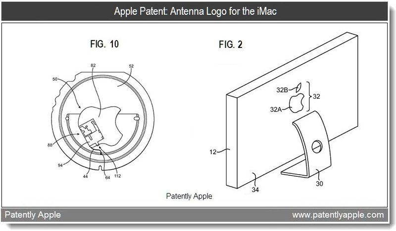 Xtra - Apple patent - Antenna Logo for the iMac - Mar 2011