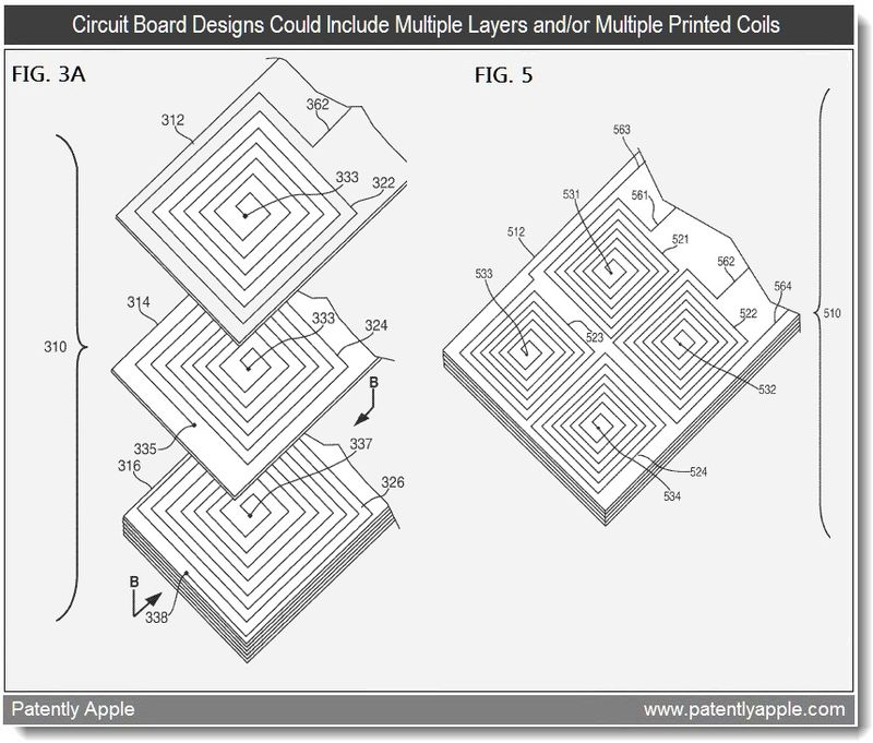 3 - Apple patent - circuit board designs, multi-layered and or muliple printed coils - mar 2011