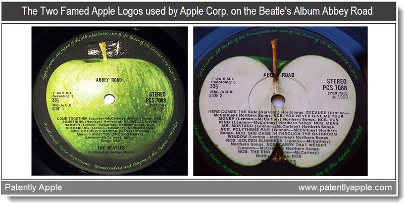 4 - the famed granny smith Apple logo used on the Beatle's Abbey Road Album 1969 - mar 2011