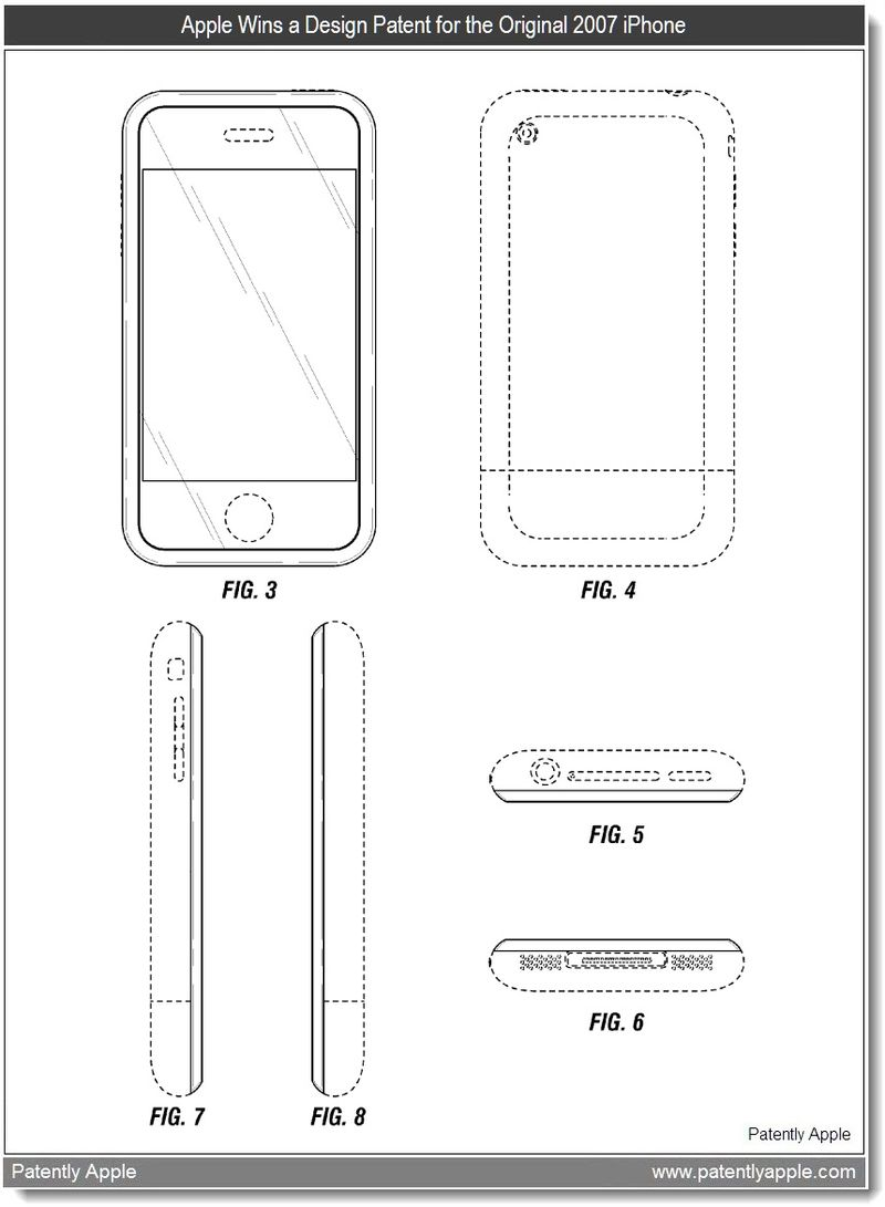 2 - Apple wins a design patent for the original 2007 iPhone