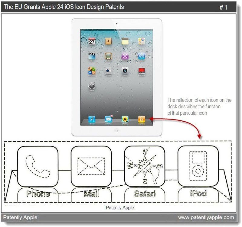 3 - The EU Grants Apple 24 iOS design patnts - mar  2011