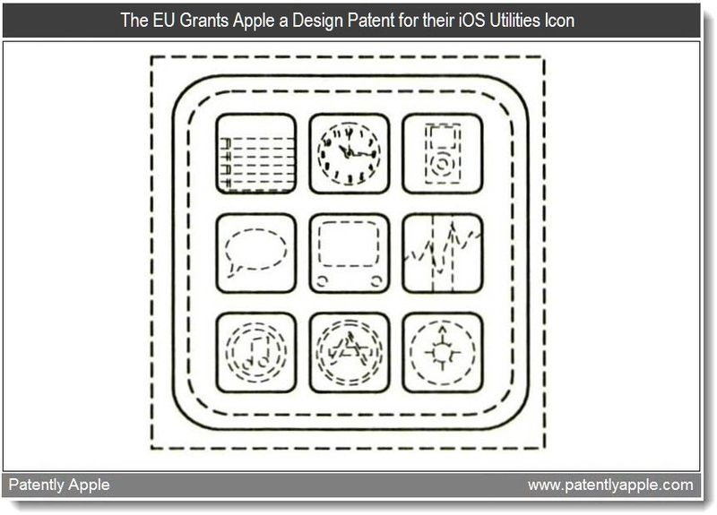 5 - The EU Grants Apple a Design Patent for their iOS Utilities Icon - Mar 2011