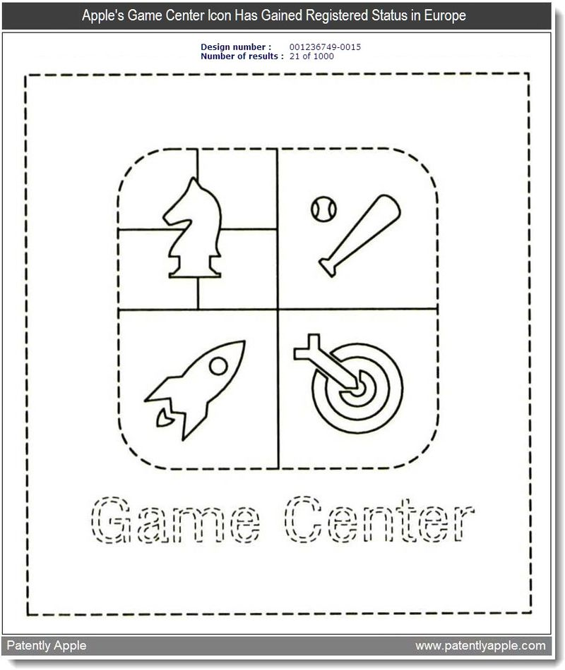 7 - Apple's Game Center Icon has gained registered status in Europe - mar 2011