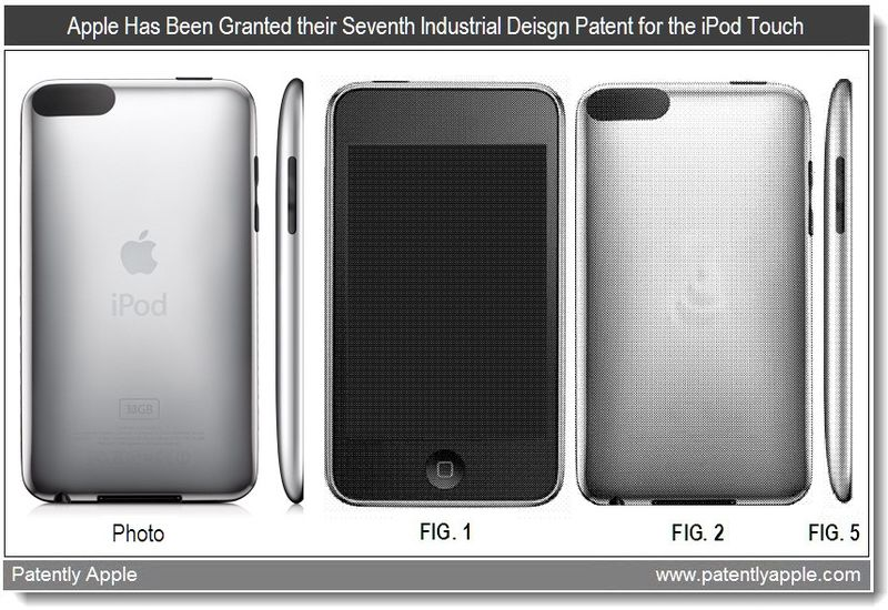 2 - Apple is granted their seventh iPod touch industrial design win - march 22, 2011