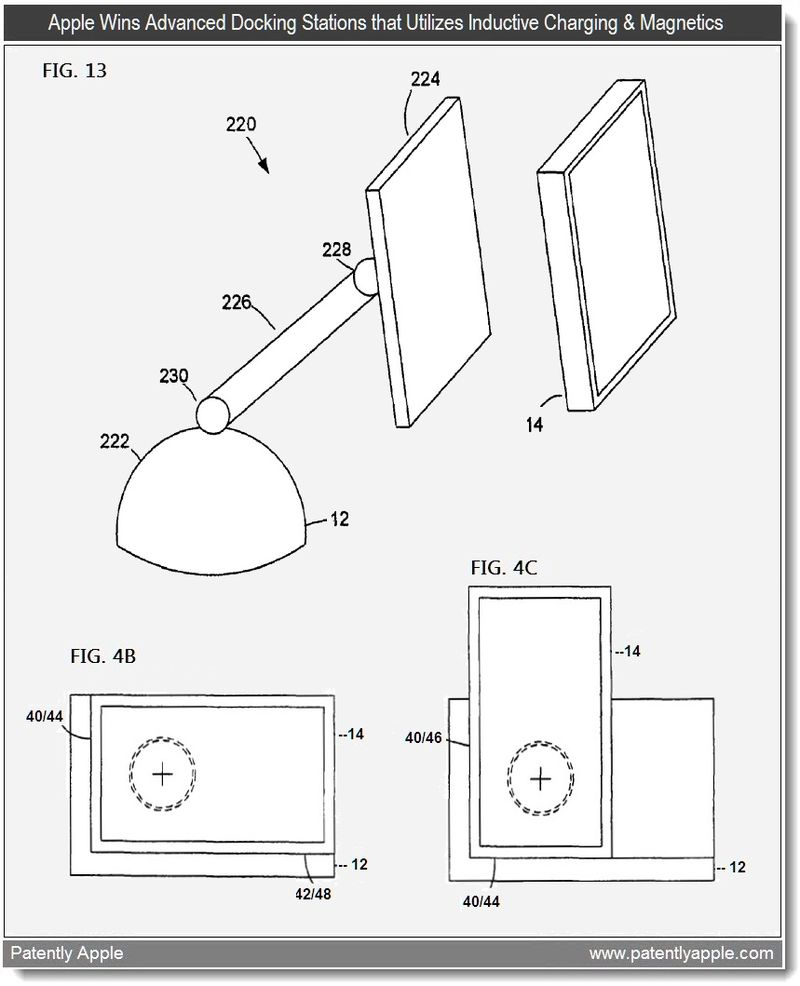 2 - Advanced Docking Stations utilizing Inductive Charging & Magnetics - Apple patent mar 29 2011