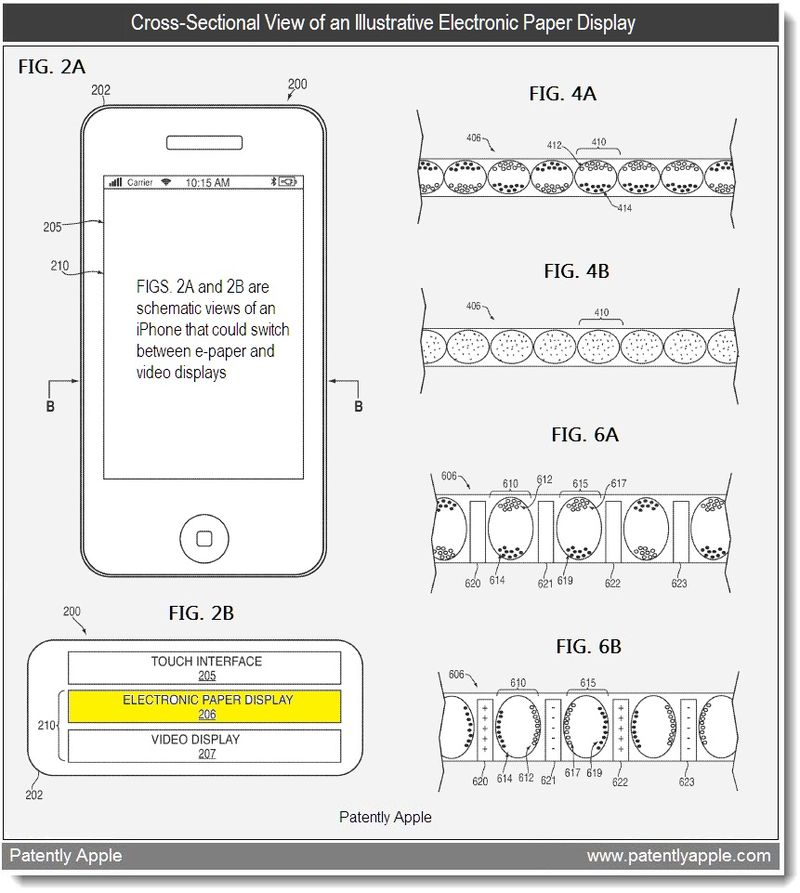 2 - cross sectiional view of illustrative e-paper display - apple patent april 2011