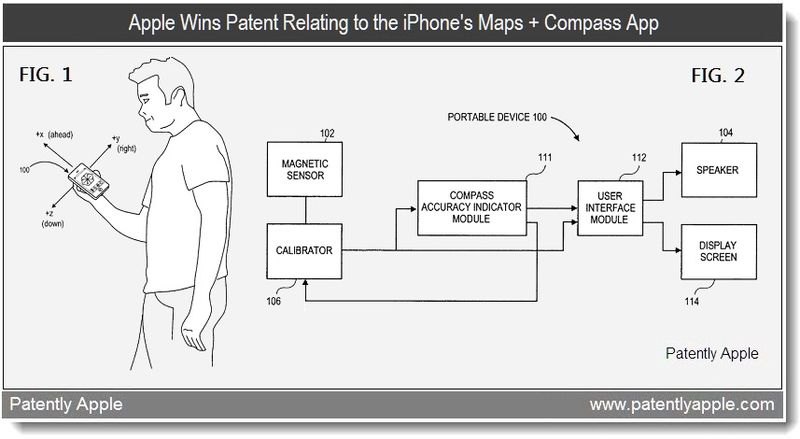 3 - Apple wins patent relating to the iPhone's Maps + Compass App - april 12, 2011