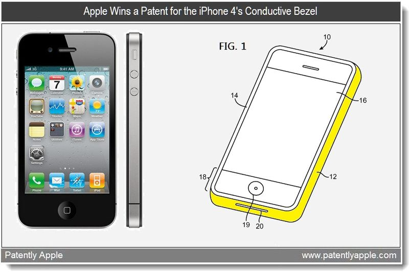 4 - Apple Wins a Patent for the iPhone 4's Conductive Bezel - April 12, 2011