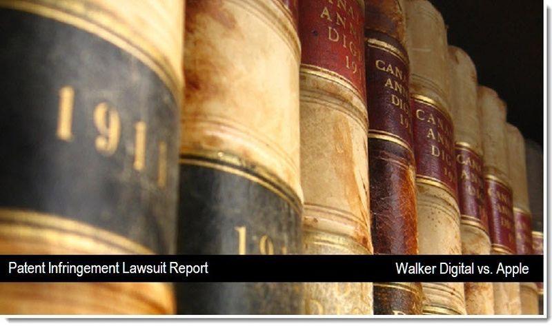 1 V2 - Walker Digital vs. Apple - Patent Infringement Lawsuit report - April 2011