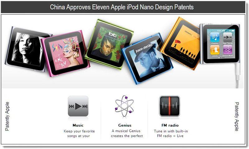 1 - China Approves Eleven Apple iPod Nano Design Patents - April 15 - 16 - 2011