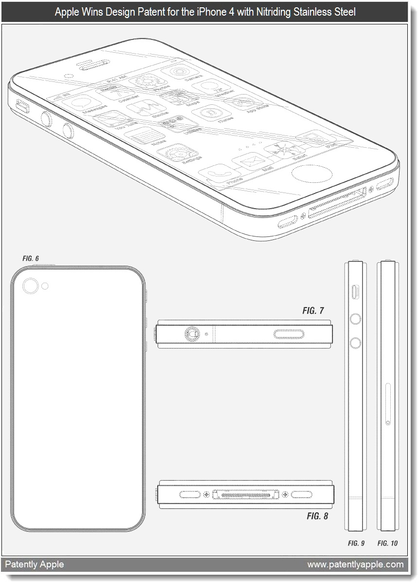 Apple Wins Iphone 4 And Key Rfid Transponder Display Patents Block Diagram Design Patent For The With Nitriding Stainless Steel Band