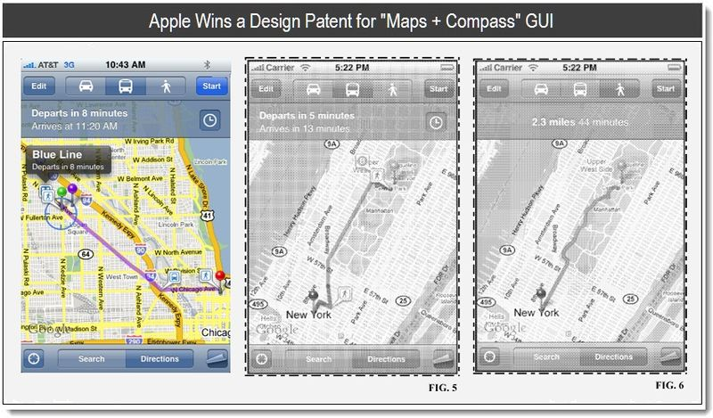4- Apple Wins Design Patent for Maps and Compass GUI  -  april 2011