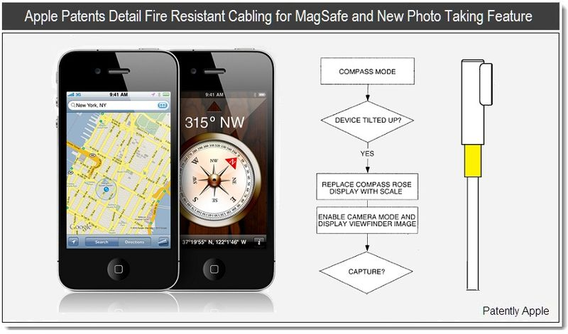 1 - Apple patents Detail Fire Resistant Cabling for Magsafe and new photo taking feature - april 2011