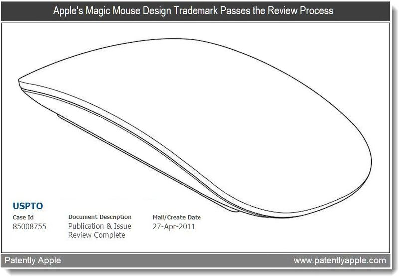 Xtra - Apple's Magic Mouse Design TM Passes the Review Process - April 2011