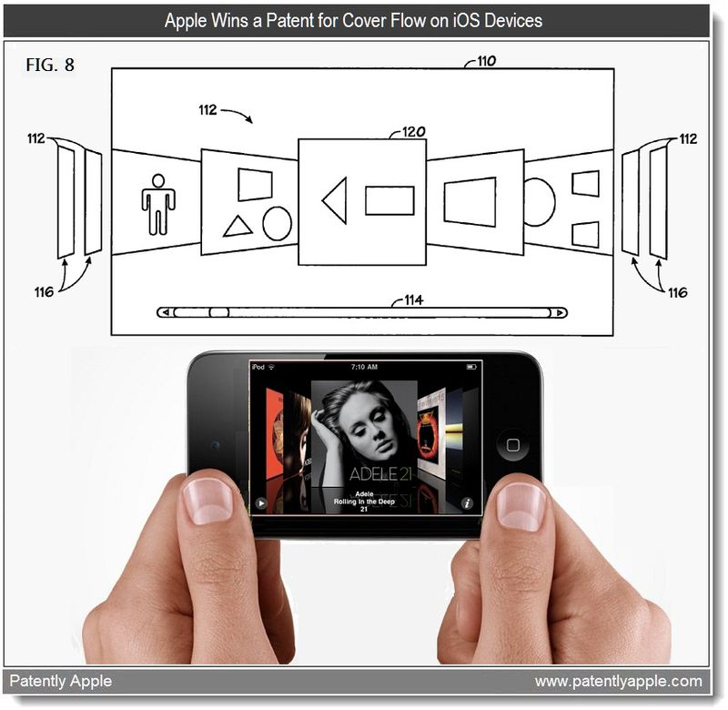 6 - Apple Wins a patent for cover flow on iOS Devices - May 2011