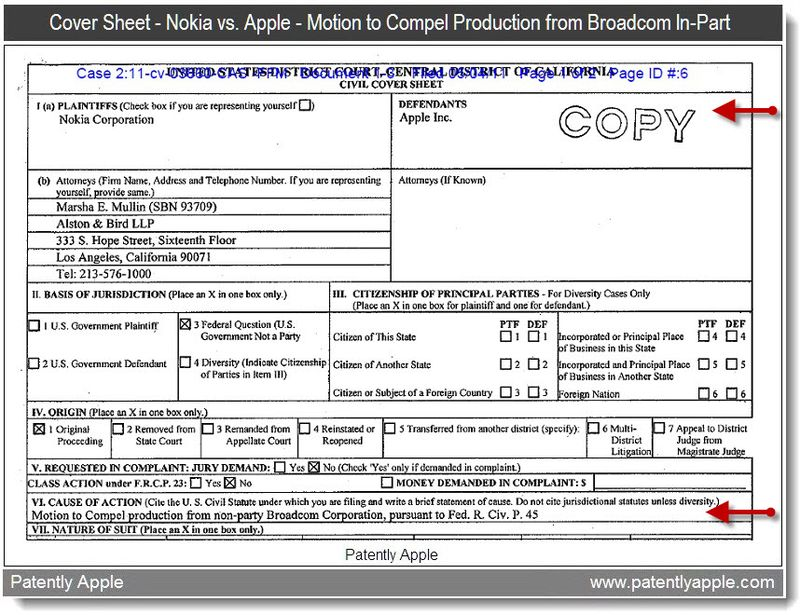 2a - Nokia vs. Apple - Motion to Compel Production from Broadcom In-Part - May 2011