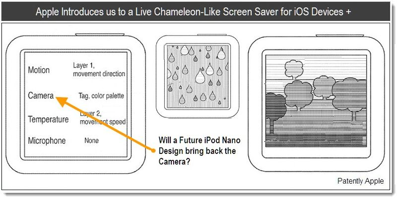 1 - Apple Introduces us to a Live Chameleon-Like Screen Saver for iOS Devices + , patent 2011