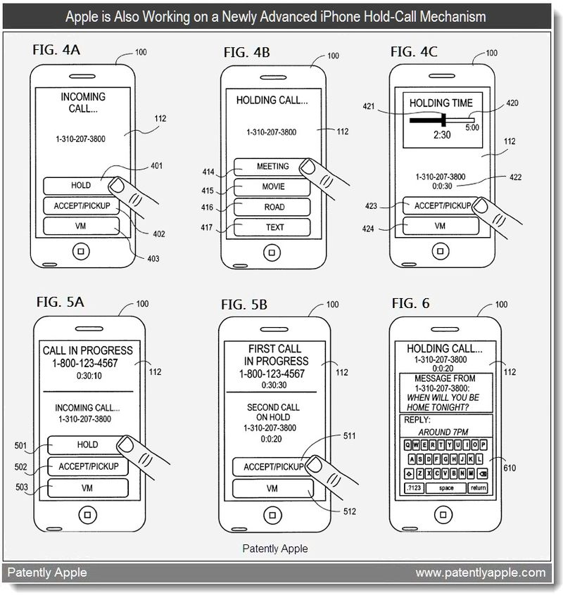 4 - Apple is Also Workinig on a Newly Advanced iPhone Hold-Call Mechanism - patent may 2011