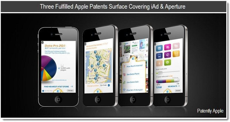 1C - Three Fulfilled Apple Patents Surface Covering iAd & Aperture - May 2011