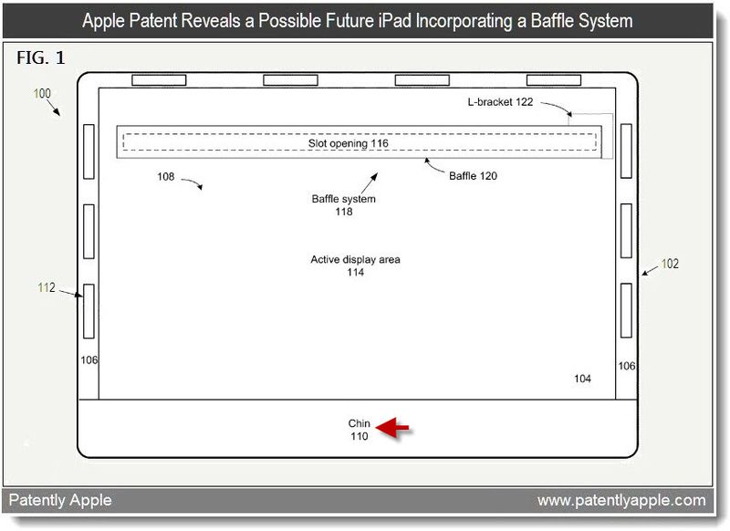 3A - Apple Patent reveals a possible future iPad-like device incorporating a Baffle System - 2011