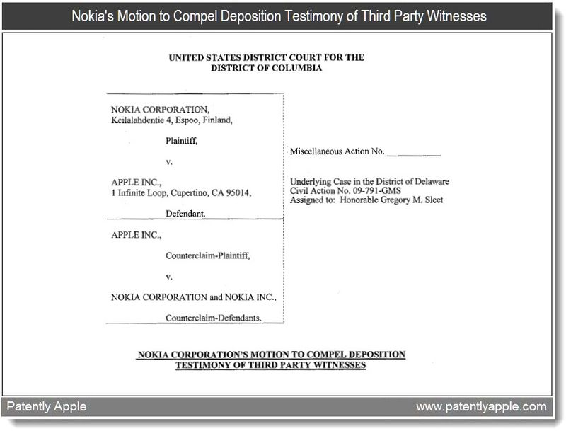 2 - Nokia's Motion to Compel Deposition - May 17, 2011
