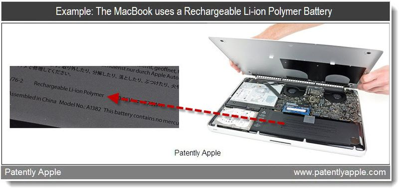 2 - example - the macbook uses a rechargable li-ion polymer battery - may 2011