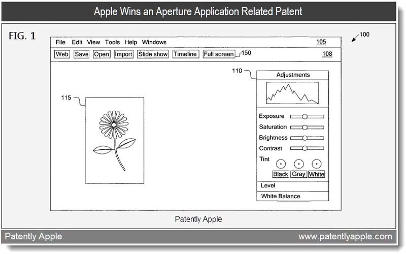 6 - Apple Wins an Aperture Application Related Patent - May 2011