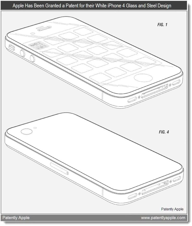 2 - Apple Wins a design patent for the iPhone 4 white - May 2011