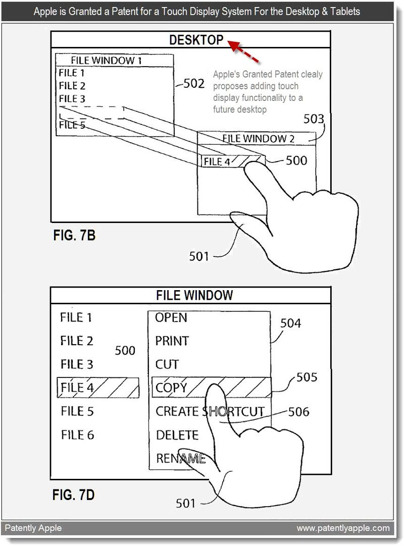 2 - Apple is Granted a Patent for a Touch Display System for the Desktop & Tablets - June 2011