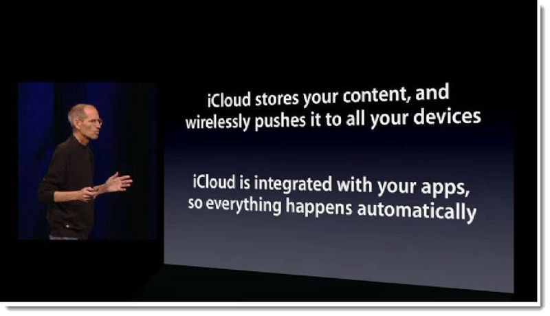 6 - Steve Jobs June 2011 - iCloud is Integrated with your apps