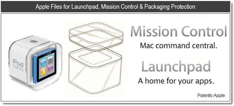 1 - Apple Files for Launchpad, Mission Control & Packaging Protection - June 2011, Patently Apple