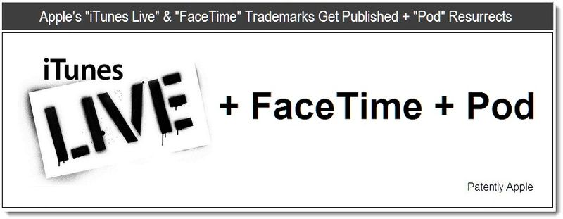 1 - Apple's iTunes Live & FaceTime Trademarks Get Published + Pod Resurrects - June 2011, Patently Apple